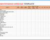 Free Printable Maintenance Schedule Template
