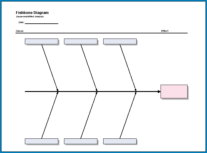 Free Printable Cause And Effect Diagram Excel