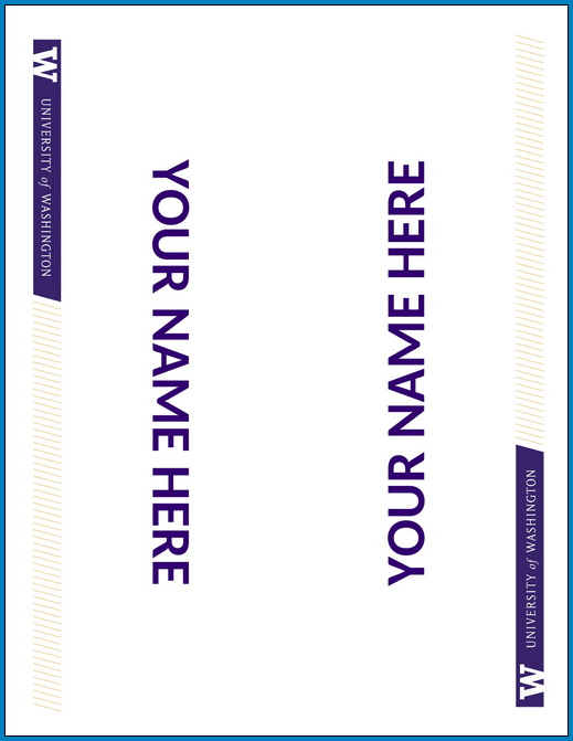 Example of Name Tent Card Template