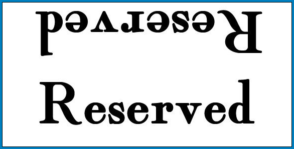 Example of Reserved Table Sign Template