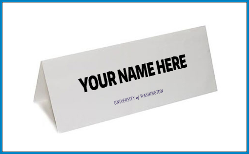 Name Tent Card Template Example
