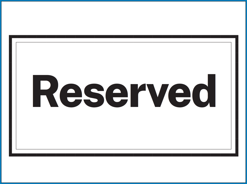 Sample of Reserved Table Sign Template