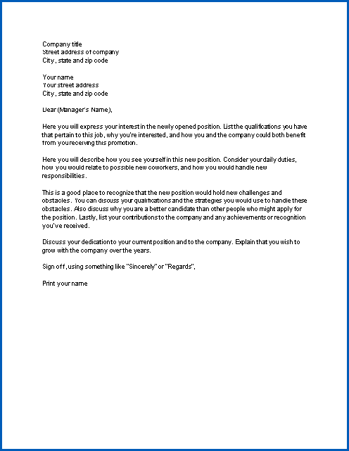 Free Printable Letter Of Interest For A Job